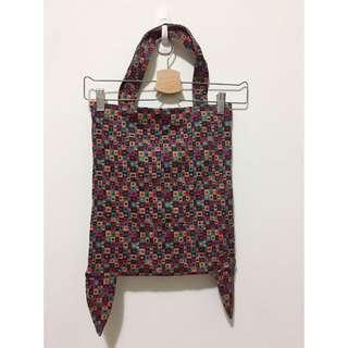 古著 特殊小角設計 可愛彩色 幾何圖形 托特包 側背包 購物袋 手提袋
