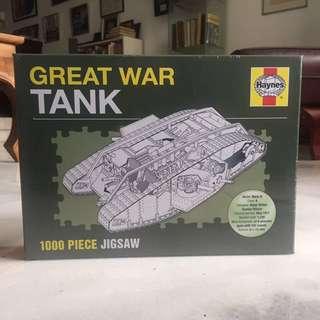 Great War Tank 1000 Piece Jigsaw Puzzle