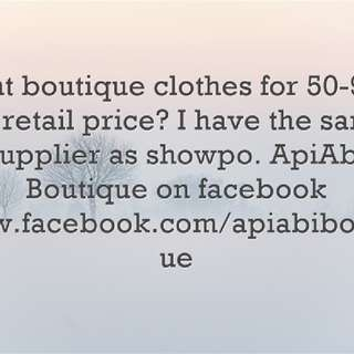 Want boutique items for 50-75% off retail?