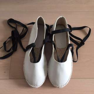 Zara white flat shoe