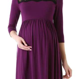 BNWT Purple and Black Maternity Dress
