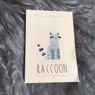 Raccoon Kawaii Notebook