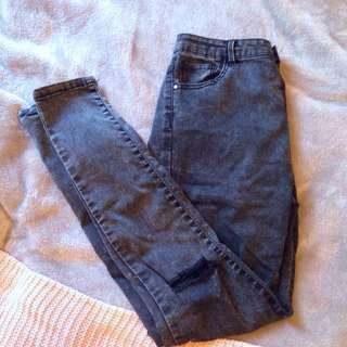 Grey Wash Skinny Jeans