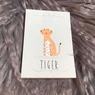 Tiger Kawaii Notebook