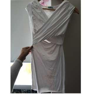 white kookai dress