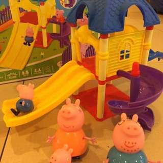 Peppa pig toy with slide