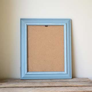 Coastal Blue Speckled Photo Frame with White Accents 8x10