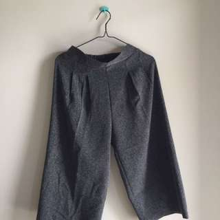 dark grey culotte
