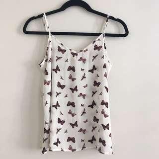 Cute print sleeveless top good condition