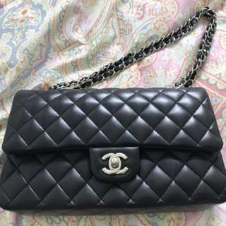 Chanel Classic 2.55 Double Flag Black Lambskin