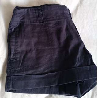 Dark blue cotton shorts