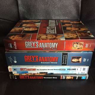 Grey's Anatomy Season 1-4 DVD's