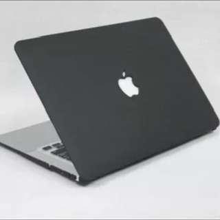 """[INSTOCK] 🆕 BNIP Sealed Apple MacBook Air Pro Non-Retina Retina 11"""" 12"""" 13"""" 15"""" Laptop Classic Black Case Cover - Matte Frosted With Logo Cut Out"""