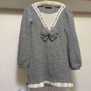 出售 日系連身洋裝👗(灰) NTD.0up/元(不含運費/北市面交)