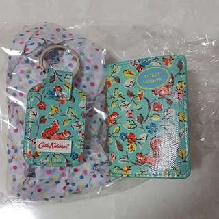 BN Cath Kidston Purse Card Holder Key Chain
