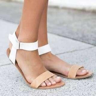 Billini Nude Sandals Size 6