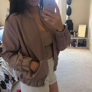 Missguided Mauve Bomber jacket