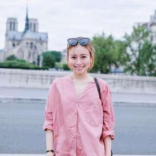 我的巴黎小生活 瑞典 COS 粉色襯衫 M 想要想要系列 我的巴黎小衣櫥