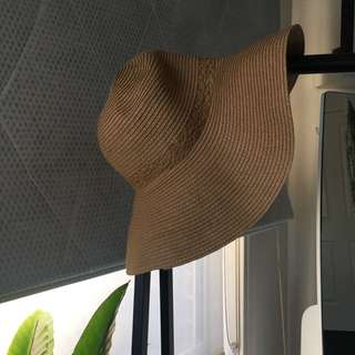 sportsgirl // straw wide brim hat