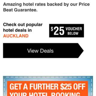 $25 discount voucher for Auckland hotel