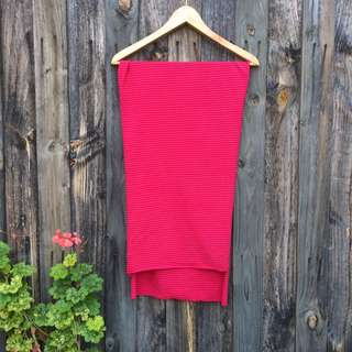 Seed Heritage Pink and Red Stripped Scarf