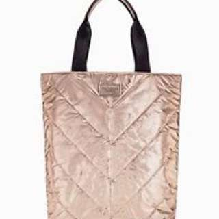 Victoria Secret rose gold tote bag