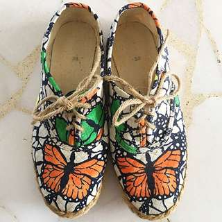 Butterfly Canvas Handmade Shoes
