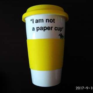 陶瓷咖啡杯連軟膠蓋