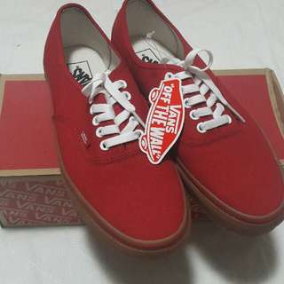 Authentic Vans Gumsole Red CHILI PEPPER