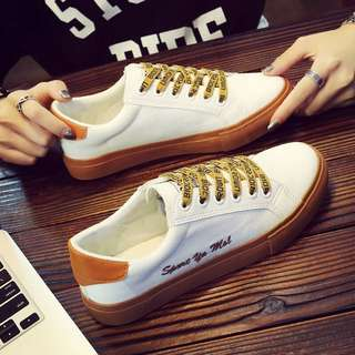 (特價)韓版女鞋刺繡帆布鞋厚底鞋小白鞋休閒鞋板鞋