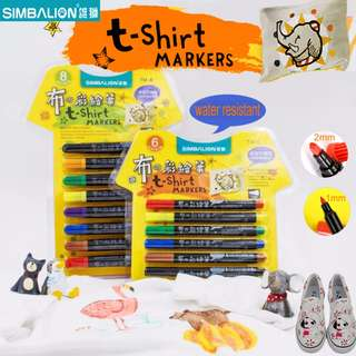 Simbalion T-shirt Marker 8 Colours Set