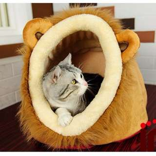 CPET052 Cute Warm Plush Pet Dog Cat Bed House Condo Cave with Removable Cushion Inside