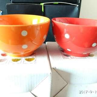 波點陶瓷碗