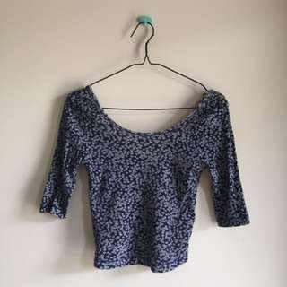 floral crop top by stradivarius