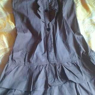 Close-Neck Halter Type Mini Dress