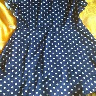 Dotted Mini Dress Nice Cloth Quality