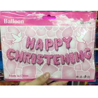 Happy Christening Letter Balloons