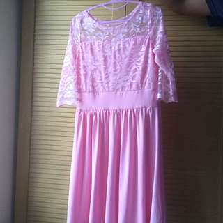 Dress Brokat Pink