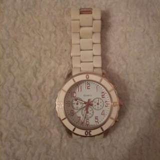 Beautiful White And Rose Gold Watch