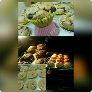 Banana Muffins with Chocolate Chips(Regular Size)