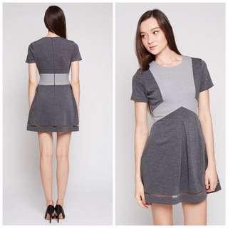 *SALE* MDS Grey Remi Two Tone Dress in XS