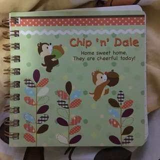 大鼻鋼牙 記事簿 chip and dale notebook