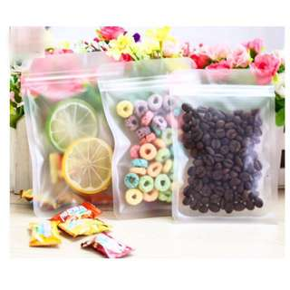 Flat Frosted Ziplock Cookie Bag Pouch Packaging