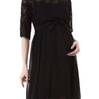BNWT Maternity Black dress with sleeves