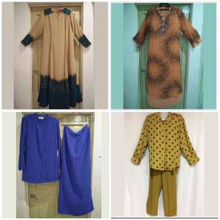 Preloved Jubah and 2-pieces