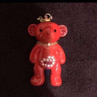 紅色泰迪熊項鍊 墜子