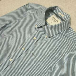 Abercrombie & Fitch Oxford Shirt Muscle Slim Fit One Pocket