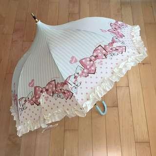 日本swimmer lolita蝴蝶結lace雨傘遮少女