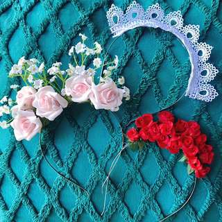 Races Spring carnival head piece crowns -flower and lace
