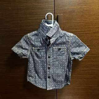 (包📮本地平郵)baby gap casual shirt